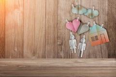 Süßes Haupthauptkonzept mit Papier schnitt flache Art Stockfotografie