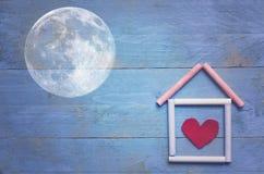 Süßes Haupthaus, Mond stockfoto