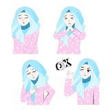 Süßes Hijab-Mädchen 4 lizenzfreie abbildung