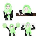 Süßes Hijab-Mädchen 7 vektor abbildung