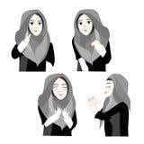 Süßes Hijab-Mädchen 3 Vektor Abbildung