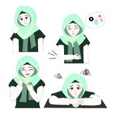 Süßes Hijab-Mädchen 6 stock abbildung