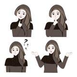 Süßes Hijab-Mädchen 8 stock abbildung