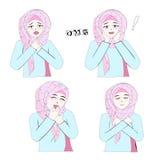 Süßes Hijab-Mädchen 9 stock abbildung