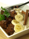 Süßes Huhn mit Reis stockfoto