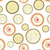 Süßes Kap backt Muster auf weißem Hintergrund zusammen nahtlos lizenzfreie abbildung