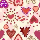 Süßes Liebesmuster Stockbild