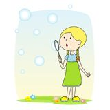 Süßes Mädchen vektor abbildung