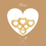 Süßes Menü auf Hintergrund Stockfoto
