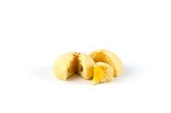 Süßes mochi auf weißem Hintergrund stockbilder