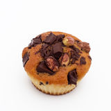 Süßes Muffin mit Schokolade und Haselnuss stockfoto