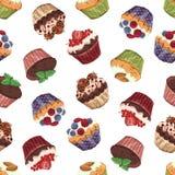 Süßes Muster der kleinen Kuchen Lizenzfreie Stockbilder