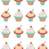 Süßes Muster der kleinen Kuchen Stockfoto