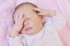 Süßes neugeborenes Stockbild
