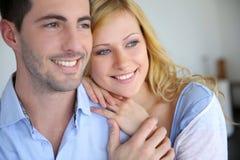 Süßes Paarporträt Stockbild