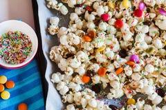 Süßes Popcorn stockfotografie