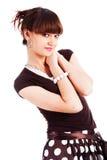 Süßes reizend junges Mädchen in der Bluse lizenzfreie stockfotografie