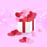 Süßes Rosa des Herzkastens lizenzfreie abbildung