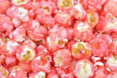 Süßes rosa Popcorn Lizenzfreies Stockfoto