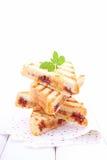 Süßes Sandwich mit Banane lizenzfreies stockbild
