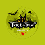 Süßes sonst gibt's Saures Halloween-Design Stockbild