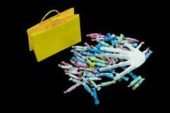 Süßes sonst gibt's Saures Taschen mit Süßigkeit Lizenzfreies Stockfoto