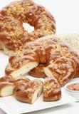 Süßes umsponnenes Brot Lizenzfreie Stockfotografie
