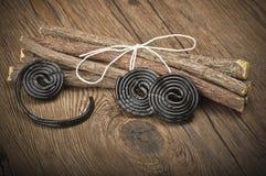 Süßholz dreht Süßigkeiten Lizenzfreies Stockbild
