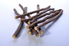 Süßholzwurzel, zum einiger gebildeter Hauptbonbons zu bilden Stockbilder