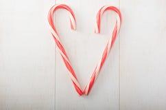 Süßigkeit Cane Heart Stockfotos