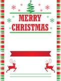 Süßigkeit Cane Merry Christmas Poster Template Lizenzfreies Stockfoto
