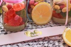Süßigkeit in einem Glas lizenzfreies stockbild