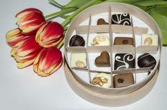 Süßigkeit in einem Kasten Lizenzfreies Stockbild