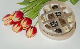 Süßigkeit in einem Kasten Stockbild