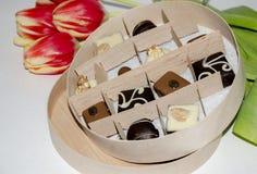 Süßigkeit in einem Kasten Stockfotos