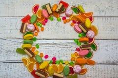 Süßigkeit in Form eines Kreises für Postkarten Lizenzfreies Stockfoto