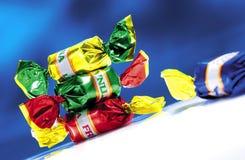 Süßigkeit gefärbt Stockfoto