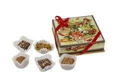 Süßigkeit im Stil des des späten 19. jahrhunderts und früh - 20 Thjahrhunderte, produziert in der Stadt Kolomna auf dem weißen Hi Stockbilder