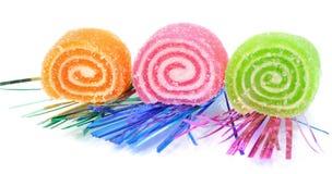 Süßigkeit mit drei Früchten Lizenzfreie Stockbilder