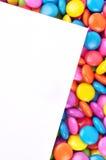 Süßigkeit mit Papier Lizenzfreie Stockfotografie
