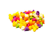 Süßigkeit Thailand Aalaw bunt auf Weiß Lizenzfreie Stockbilder