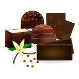 Süßigkeit und Blume von Vanille Stockfotografie