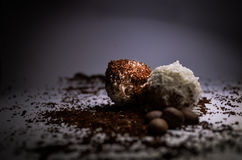 Süßigkeit und Kaffee Stockfoto