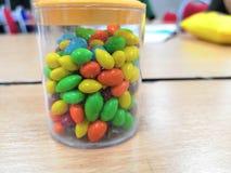 Süßigkeit in vielen Farben Stockfotografie