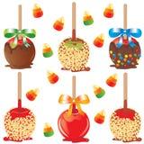 Süßigkeitapfelfestlichkeiten lizenzfreie abbildung