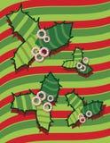 Süßigkeiten über wellenförmigen Streifen Lizenzfreies Stockbild