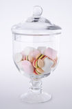 Süßigkeiten. bunte Süßigkeiten im Glasglas Lizenzfreies Stockbild