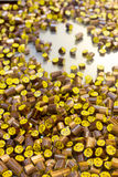 Süßigkeiten in der Süßigkeitsfabrik Stockbild