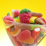 Süßigkeiten in einem Glas Stockbild