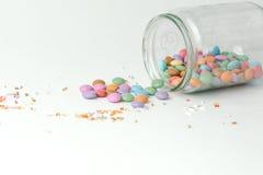 Süßigkeiten in einem Glas Stockfoto